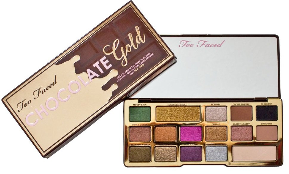 Тени Too Faced Gold Chocolate Bar